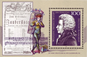 DBP_1991_1571_Block_26_Wolfgang_Amadeus_Mozart