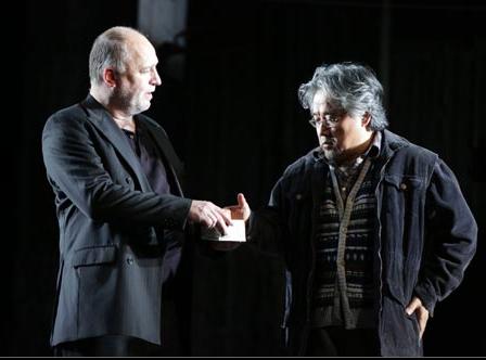 Picture by  Marco Brescia & Rudy Amisano Fidelio (Act I): Don Pizarro (Falk Struckmann); Rocco (Kwangchul Youn)