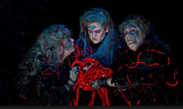 Maria Radner, Karen Cargill and Elisabeth Meister as Norns