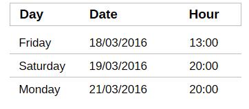 Cenerentola_Schedule