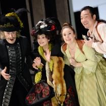 Dietrich Volle (Bartolo), Judita Nagiovà (Marcellina), Louise Alder (Susanna) and Kihwan Sim (Figaro). © Barbara Aumüller