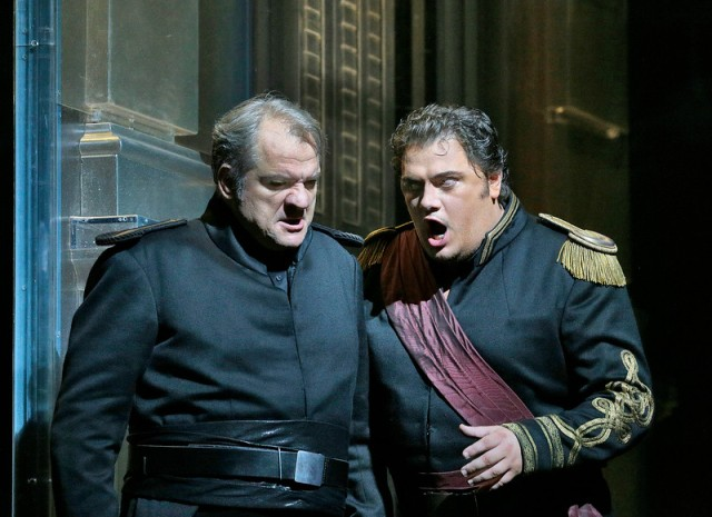In Otello at the Metropolitan Opera. Photo by Ken Howard